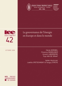 Laetitia Spetschinsky et Tanguy Struye - La gouvernance de l'énergie en Europe et dans le monde.