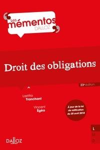 Laetitia Tranchant et Vincent Egéa - Droit des obligations.