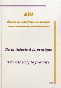 Nicole Décuré - Etudes en Didactique des Langues N° 30 : De la théorie à la pratique.
