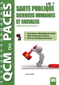 Deedr.fr Santé publique - Sciences humaines et sociales UE 7 - Optimisé pour Paris 5 Image
