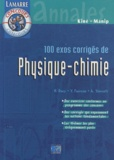 Lamarre - Pack concours kinésithérapeutes - 100 exos corrigés de physique-chimie ; Concours kiné physique-chimie ; Concours kiné biologie.