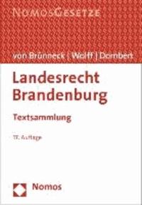 Landesrecht Brandenburg - Textsammlung.