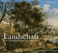 Landschaft in der Hinterglasmalerei des 18. Jahrhunderts.