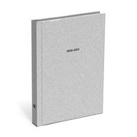 LANNOO - Agenda scolaire international 125*175 mm  - silver grey  - QC SPARKLE