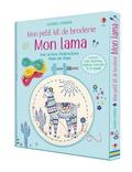 Lara Bryan et Abigail Wheatley - Mon lama - Coffret avec 1 toile imprimée, 1 tambour à broder, fil et aiguille.