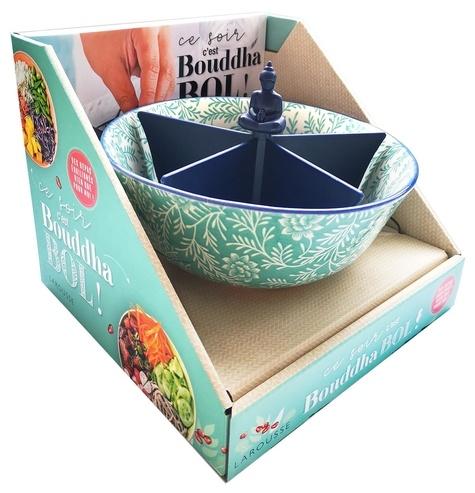 Larousse - Coffret Ce soir c'est bouddha bol ! - Le livre de 20 recettes avec un bol en céramique et un séparateur à 5 compartiments.
