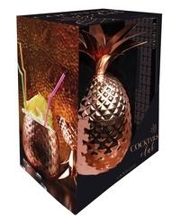 Blackclover.fr Coffret Cocktails club - Contient : 1 livre de recettes, 1 verre ananas cuivré de 850 ml Image