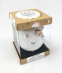 Larousse - Coffret Ma bougie licorne magique - Mon petit livre d'actuces Licorne magique et bienfaisante, avec une bougie et son porte-bougie en céramique.