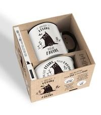 Larousse - Coffret On est félins pour l'autre - Avec 1 mug collector et une gamelle chic.