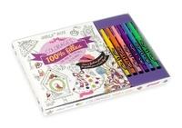 Larousse - Coloriages 100 % filles - Avec 6 feutres pinceaux.