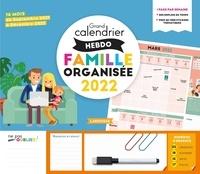 Larousse - Grand calendrier hebdomadaire famille organisée - 16 mois, de septembre 2021 à décembre 2022.