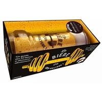 Larousse - La bière, ça des-haltères - Avec un guide de 50 bières à découvrir et un verre en forme d'haltère.