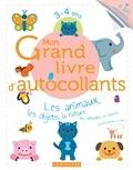 Larousse - Mon Grand livre d'autocollants 3-4 ans - Les animaux, les objets, la nature, les véhicules, les aliments et plein d'univers à coller....