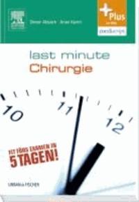Last Minute Chirurgie - mit Zugang zum Elsevier-Portal.