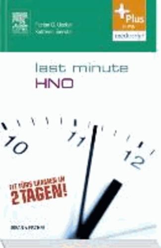 Last Minute HNO - Mit Zugang zur mediscript Lernwelt.