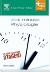 Last Minute Physiologie.