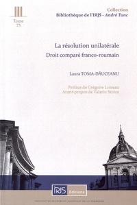 Openwetlab.it La résolution unilatérale - Droit comparé franco-roumain Image