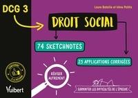 Laure Bataille et Irène POLITIS-BRINGUET - DCG 3. Droit social en 74 sketchnotes et 20 applications corrigées - Réviser autrement et surmonter les difficultés de l'épreuve.