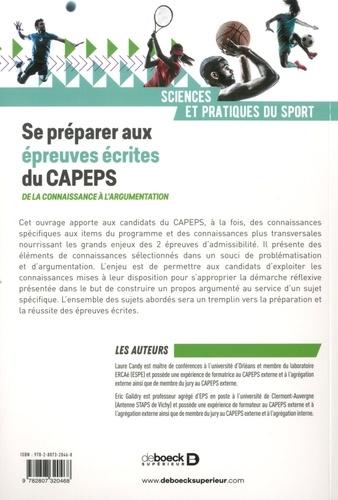 Se préparer aux épreuves écrites du CAPEPS. De la connaissance à l'argumentation