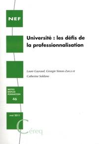 Laure Gayraud et Georgie Simon-Zarca - Université : les défis de la professionnalisation.