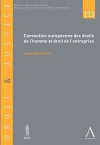 Laure Milano - Convention européenne des droits de l'homme et droit de l'entreprise.
