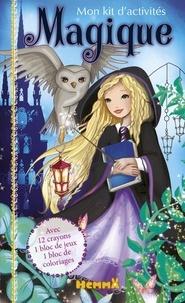 Laure Phélipon - Mon kit d'activités Magique - Avec 12 crayons de couleur, 1 bloc de jeux, 1 bloc de coloriages.