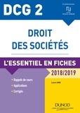 Laure Siné - DCG 2 - Droit des sociétés - 9e éd. - L'essentiel en fiches - 2018/2019.
