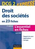 Laure Siné - Droit des sociétés DCG 2 - En 23 fiches.