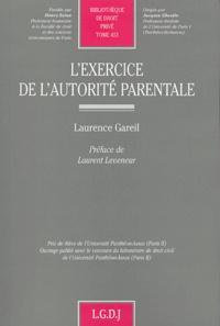 Laurence Gareil - L'exercice de l'autorité parentale.