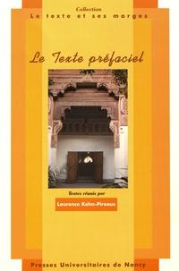 Laurence Kohn-Pireaux - Le texte préfaciel - Actes du colloque des 17, 18 et 19 septembre 1999.