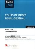 Laurence Leturmy et Patrick Kolb - Cours de droit pénal général.