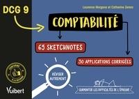 Laurence Morgana et Catherine Zerara - DCG 9 Comptabilité - 65 sketchnotes, 30 applications corrigées.