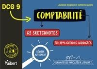 Laurence Morgana et Catherine Zerara - DCG 9. Comptabilité en 65 sketchnotes et 30 applications corrigées - Réviser autrement et surmonter les difficultés de l'épreuve.