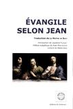 Laurence Plazenet - Evangile selon Jean.