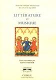 Laurence Richer - Littérature et musique.