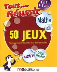 Laurent Audouin et René Canella - Maths avec petit panda - 50 jeux CE1 7-8 ans.