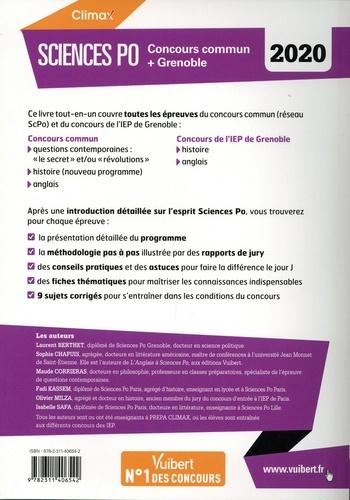 Sciences Po. Concours commun + Grenoble  Edition 2020
