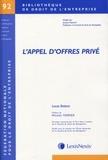 Laurent Bettoni - L'appel d'offres privé.