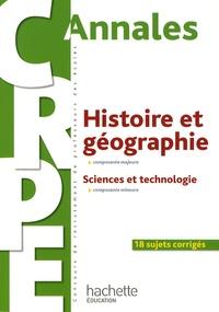 Laurent Bonnet - Annales Histoire et géographie composante majeure - Sciences et technologie composante mineure.