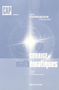Laurent Breitbach et D Laurent - Mathématiques CAP industriels - Corrigé.