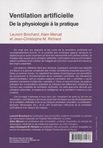 Ventilation Artificielle De La Physiologie A Laurent Brochard Livres Furet Du Nord
