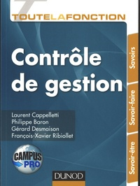 Laurent Cappelletti et Philippe Baron - Toute la fonction contrôle de gestion.