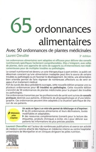 65 ordonnances alimentaires. Avec 50 ordonnances de plantes médicinales 3e édition