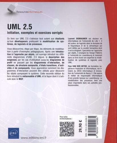 UML 2.5. Initiation, exemples et exercices corrigés 5e édition