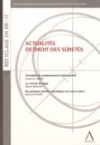 Laurent Du Jardin et Werner Derijcke - Actualités de droit des sûretés.