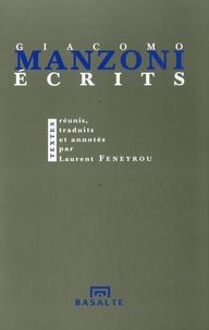 Laurent Feneyrou - Giacomo Manzoni, Ecrits.