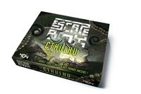 Laurent Hachet - Escape box Cthulhu - Contient : 3 livrets, 131 cartes, 1 bande-son d'une heure, 1 poster, 6 badges.