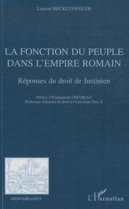 Checkpointfrance.fr La fonction du peuple dans l'empire romain - Réponses du droit de Justinien Image