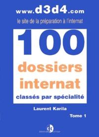 Histoiresdenlire.be 100 dossiers internat classés par spécialité. - Tome 1 Image