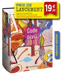 """Laurent Leveneur - Code civil 2015 - Jaquette """"Sickboy"""" amovible."""